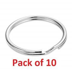 Keyring Blanks Split Key Rings 30mm Strong Loop High Quality - Pack of 10