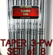 True Temper Dynalite Gold R400 Regular Steel Iron Shafts set of 8 355 Taper 3-PW