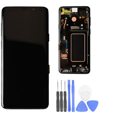 Original LCD Screen Replacement For Samsung Galaxy S9 with Black Frame