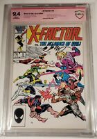 X-Factor 5 CBCS 9.4 SIGNED Layton 1st Apocalypse 1986 White pages X-Men cgc ?