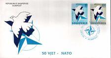 Albania stamps 1999. 50th anniversary of NATO, OTAN. FDC Set MNH