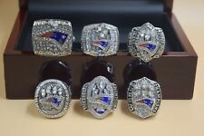 6 Pcs 2001 2003 2004 2014 2016 2018 New England Patriots Championship Ring -