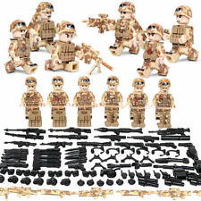 WW II Camouflage Soldiers Set 6 Mini Figures + Accessories Military Set Fit Lego