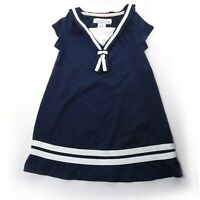 Sailor Toddler Girl Dress Size 2-4Y H&M LOGG Navy Blue White  Short Sleeve