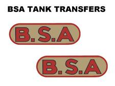 BSA Tank Transfers Decals Classic Motorcycle 1937/38 Red/Black/Gold