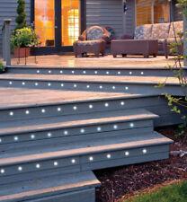 x10 30mm LED Deck Decking Ground Plinth Light Kit IP44 Kitchen Garden Cool White