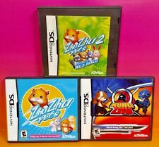 Zhu Zhu Pets 1 + 2 + Kung Zhu -Nintendo DS DS Lite 3DS 2DS 3 Game Bundle Hamster