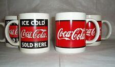 Set of 4 Vintage Gibson Coca Cola Coffee Mugs VERY NICE