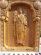 Saint Gabriel the Archangel Wooden Carved icon  CHRISTIAN GIFT FREE ENGRAVING