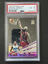 Michael Jordan 1993 Stadium Club Beam Team #4 Chicago Bulls PSA 8