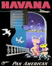 "20x30"" CANVAS Decor.Room design art print..Havana Dance La paloma travel.6112"