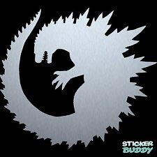 "5.5"" Godzilla Vinyl Decal Window Sticker Sci-Fi Horror Monster Silver"
