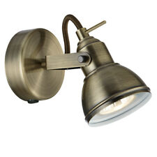 Searchlight Industrial 1 Light Antique Brass Finish Halogen Spotlight Wall Light