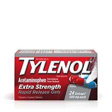 3 Pk Tylenol Adult Acetaminophen Extra Strength 24 Rapid Release Gel Tablets Ea.