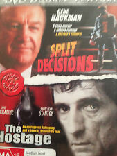 DOUBLE FEATURE *SPLIT DECISIONS & THE HOSTAGE *DVD *USED   *(E)