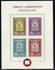 TURKEY Sc #1601 MNH 1963, S/S, F.I.P. GUNU, Stamps on Stamps, ST141F