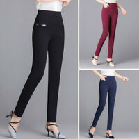 Women's High Waist Trousers Long Jeggings Pants Skinny Slim Fit Pencil Fashion