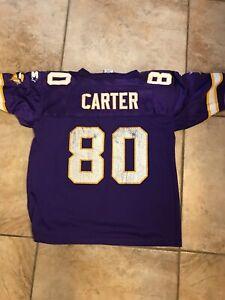 vtg 90s Cris Carter Minnesota Vikings Starter Jersey Youth L 14 16  NFL HOF