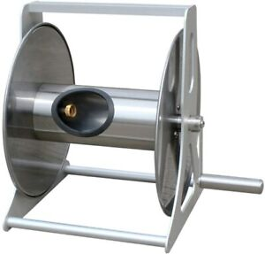 Hose Holder Stainless Steel Cast Aluminum Wall Mount Garden Hose Reel, Holds