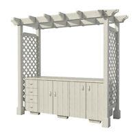 Outdoor Kitchen with Pergola Plans DIY for Backyard Patio Furniture Cooking