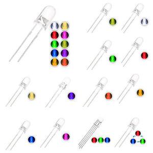 100 pcs 5mm 10 color LED Diode Lights Bulb Lamps Electronics Components Lig B5S1