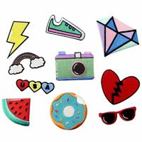 Embroidered Iron Sew On Patches transfers Badges appliques USA Rainbow JEANS DIY