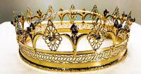 """Couronne Royal en Laiton À Salle de Bain Or Avec Pierres - Style """" Medici """""""