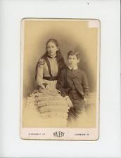 Frère et soeur Vintage albumen Print Tirage albuminé  10x14  Circa 1890