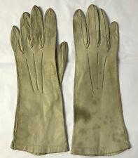 Vintage Dents Off White / Cream Cabretta (Hairsheep) Leather Gloves C1940's