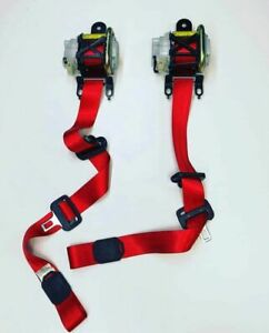 AUDI TT MK1 8N0  FRONT SEAT BELTS SET - RED