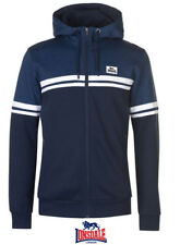 Mens Branded Lonsdale Ribbed Long Sleeves Panelled Full Zip Hoody Size M-XL