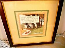 "Mary Engelbreit matted, framed print ""We Have Not Inherited."" 10 x 10"" ,1996"