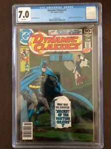Dynamic Classics #1, Sep/Oct 1978, DC Comics, CGC Grade 7.0 FN/VF