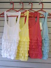 Maglie e camicie da donna multicolori elasticizzati cotone