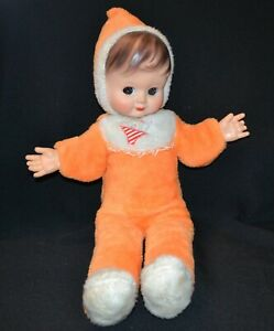 Kewpie Doll Plush Rubber Face Vintage 60's Or 70's Rare