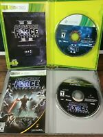 Star Wars The Force Unleashed 1 and 2 Xbox 360 Complete Mint Condition w Manuals