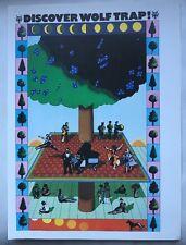 "Milton Glaser ""Discover Wolftrap' Music Festival Pop Art Poster 1975 Pop Art 37"