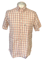 Paul Smith Jeans Men's Casual Shirt Multi Check Large Crinkle 100% Cotton S/S