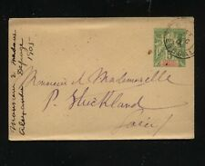 Senegal small postal envelope  1905  to Peter Strickland US consul        MS0902