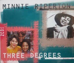*MINNIE RIPERTON/THREE DEGREES* 2-Disc Compilation Double CD Studio Album/s SOUL