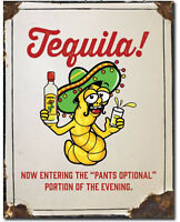 Tequila pants optional Metal tin sign home garage Bar Shop Wall decor new