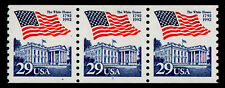 UNITED STATES, SCOTT # 2609, COIL STRIP OF 3 PNC # 1, FLAG OVER WHITE HOUSE, MNH