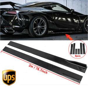 86.6'' Gloss Black Side Skirts Rocker Panel Lip For LEXUS IS200T IS250 IS350  US