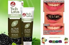 TWIN LOTUS ACTIVE CHARCOAL TOOTHPASTE HERBALISTE Triple Action Powered By