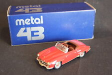Metal 43 built Mercedes-Benz 190 SL Cabriolet 1:43 Red (JS)