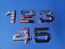 50mm LETTERBOX HOUSE NUMBER STICK ON ABS 0-9 HOME like CHROME STAINLESS