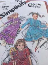 Simplicity Sewing Pattern 5354 Toddlers Childs Dress Size 5 Uncut Vintage