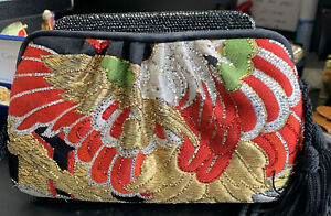 Judith Leiber Swarovski Crystal And Brocade Bag