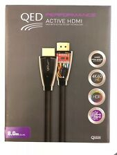 QED Performance Active 4k 60 UHD HDR High Speed HDMI Cable 8.0m QE6011 - Grey