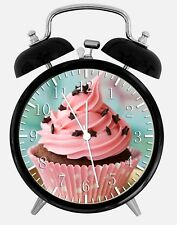 """Cup Cake Alarm Desk Clock 3.75"""" Home or Office Decor W166 Nice For Gift"""